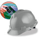 MSA Cap Style Hard Hats with Fas-Trac Ratchet Suspension - Gray 475364