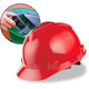 MSA Cap Style Hard Hats with Fas-Trac Ratchet Suspension - Red 475363