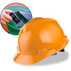 MSA Cap Style Hard Hats with Fas-Trac Ratchet Suspension - Orange 475361