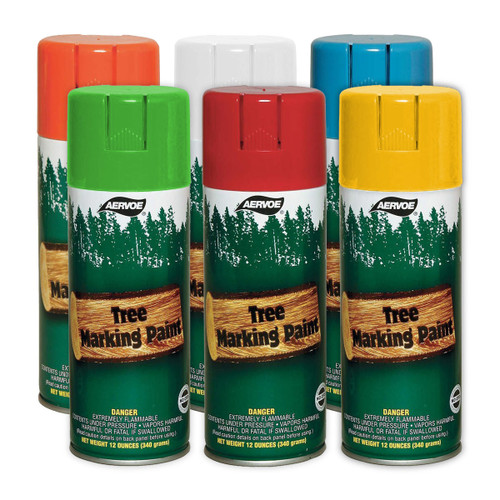 Aervoe Aerosol Tree Marking Paint - Standard Colors