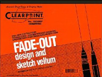 Clearprint Fade Out Design & Sketch Vellum Pad - Isometric Grid (1000-5410)