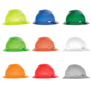 MSA Hard Hats - Full Brim Hat Style - Four Point Staz-On Suspension