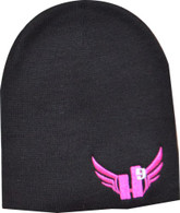 Beanie - Hot Pink with Light Grey 9