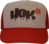 Kids Red & White Trucker Hat
