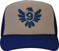 Kids Trucker Hat - White and Royal