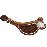 Billy Cook Saddlery Cowboy Spur Straps Basket Stamp & Spots