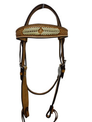 Billy Cook Saddlery Western Browband Headstall Rawhide Braid