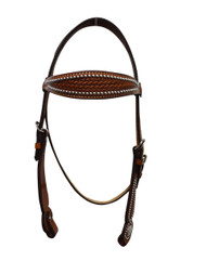 Billy Cook Saddlery Western Browband Headstall Spotted Basket Stamp