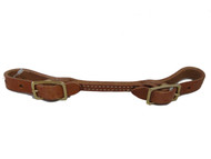Billy Cook Saddlery Harness Leather Round Buckle Curb Strap