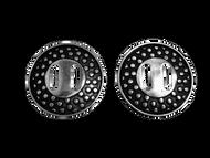 Jeremiah Watt Horse Shoe Brand Hardware Polka Dot Slotted Conchos