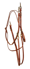 Hermann Oak Harness Leather German Martingale-Barrel Reins