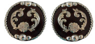 Hansen Western Gear Dakota Bubble Concho Screw Back Pair