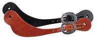 West Coast Tack Hermann Oak Harness Leather Basic Spur Straps