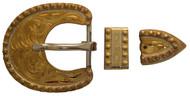 Hansen Western Gear Yuma Berry Brass 3 Piece Buckle Set