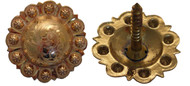 Hansen Western Gear Yuma Berry Brass Concho Wood Screw Back Pair
