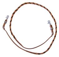 West Coast Tack Blood Twist Rope Barrel Reins Hermann Oak Natural Harness & Latigo Leather