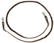 West Coast Tack Blood Twist Rope Barrel Reins Hermann Oak Latigo Leather