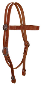West Coast Tack Basic Browband Hermann Oak Natural Harness Headstall