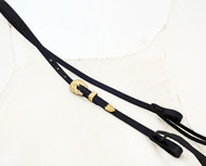 Bosal Hanger Headstall Black Hermann Oak Harness Leather Yuma Berry Brass Buckle