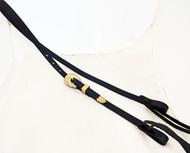Bosal Hanger Headstall Black Hermann Oak Harness Leather Yuma Berry Brass Buckle