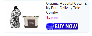 organic gown tote combo