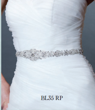 Giselle Bridal Belt BL35 - Beaded Belt