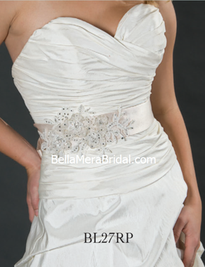 Giselle Bridal Belt BL27 (RP) - Available in Rum Pink
