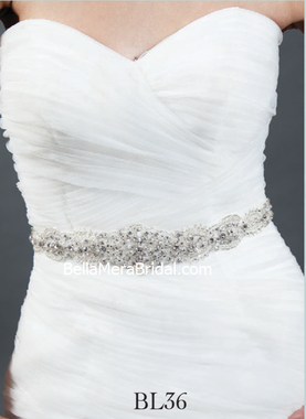 Giselle Bridal Belt BL36 - Beaded Belt
