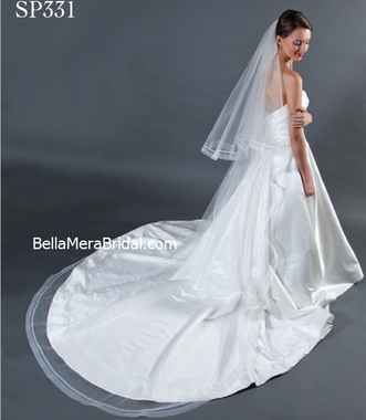 Giselle Bridal Veil Style SP331 -Two Tier - Horse Hair Double Line - Circle Cut