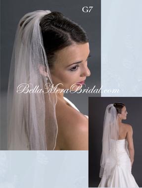 Giselle Bridal Veil Style G7 - 1 Tier Silk Rolled Edge