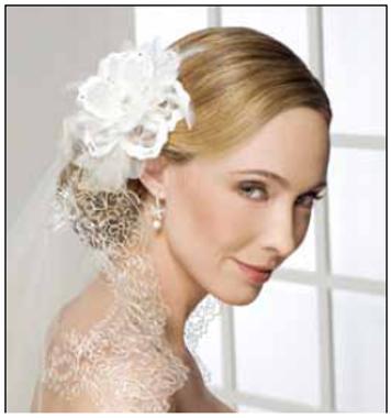 Bel Aire Bridal Accessory  6223 Flower Wedding Headpiece