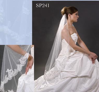 Giselle Bridal Veil Style SP241- Alencon Lace