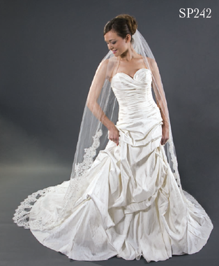 Giselle Bridal Veil Style SP242- Alencon Lace Cathedral
