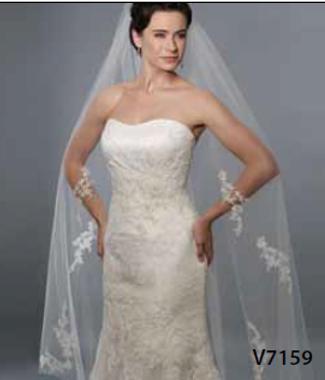 Bel Aire Bridal Wedding Veil V7159- Waltz LengthVeil