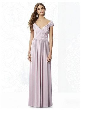 After Six Bridesmaids Style 6697 by Dessy w/Cap Sleeves - Maracaine Jersey - Quick Ship