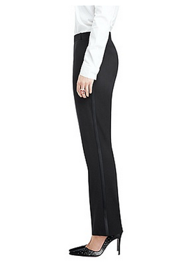 After Six Marlowe Women's Tuxedo Pants by Dessy - Lanificio Di Tollegno Stretch Wool & Lycra