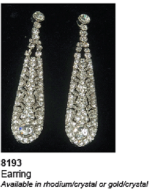 Ansonia Bridal Style 8193- Dangle Earrings
