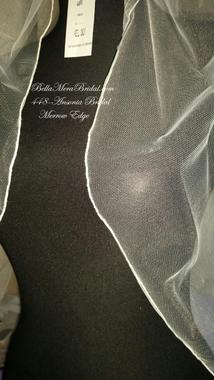 Ansonia Bridal Veil Style 448E - Elbow w/ Merrow Edge