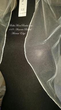 Ansonia Bridal Veil Style 448FT - Fingertip w/ Merrow Edge