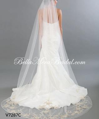 Bel Aire Bridal Veils V7287C - Cathedral Wedding Veil Length Veil