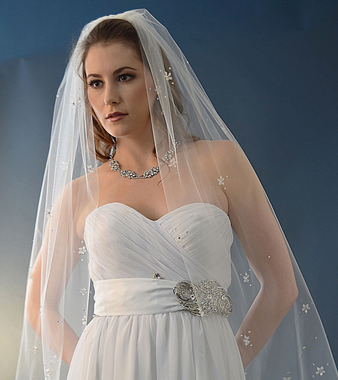 Ansonia Bridal Veil Style 474L -Cathedral Length