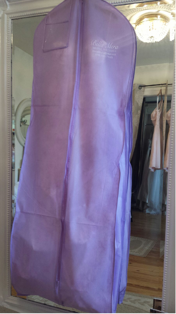Water Resistant Breathable Wedding Garment Bag - Lavender