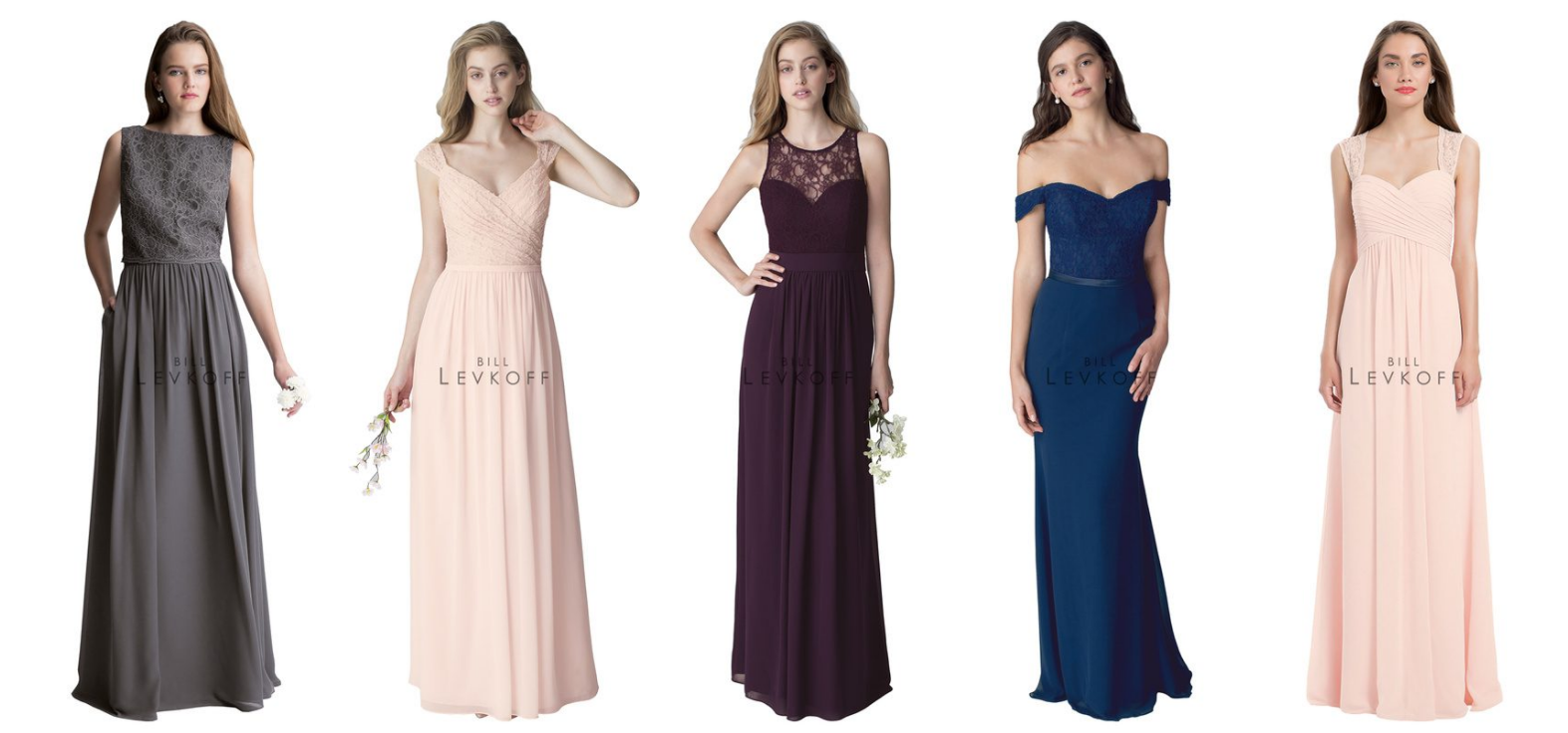 Bill Levkoff Bridesmaids Dresses - #LEVKOFF Bridesmaids Dresses - Bill Levkoff Dresses online - Chiffon and Lace Bridesmaids Dresses - Long Bridesmaids Dresses