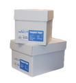 "Alliance Imaging Products 9674 12"" x 8-1/2"" Blank, 3 HP Top, Clean Edge Perf. 1 Ply 20# 2700 Sheets Per Case"