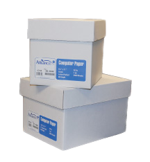 "Alliance Imaging Products 13730 9-1/2"" x 11"" Blank, Letter Perf., 92 Brightness 1 Ply 20# 2700 Sheets Per Case"