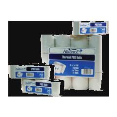 "Alliance Imaging Products 35101 2-3/4"" x 165' Advantage Bond 1 Ply  7/16"" ID Core 50 Rolls Per Case"