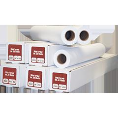 "18"" x 150' Ink Jet Bond Plotter Paper 1 Ply 20# 2"" ID Core 4 Rolls Per Case"
