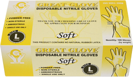 Great Glove - Soft Nitrile Powder-Free Gloves - Case