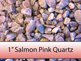 "1"" Salmon Pink Quartz Stone"