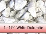 "1"" - 1 1/2"" White Dolimite Stone"